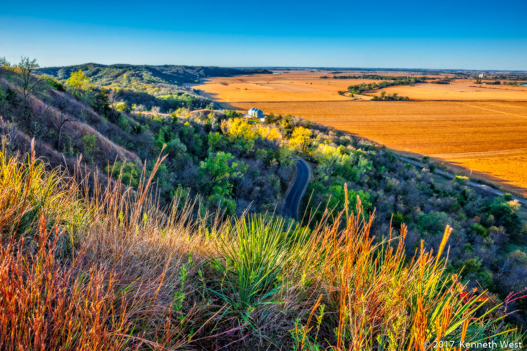 Misssouri River Valley - LHKW-111013-S - Early Fall on the Loess Hills National Scenic Byway - Standard 2 x 3 Proportion