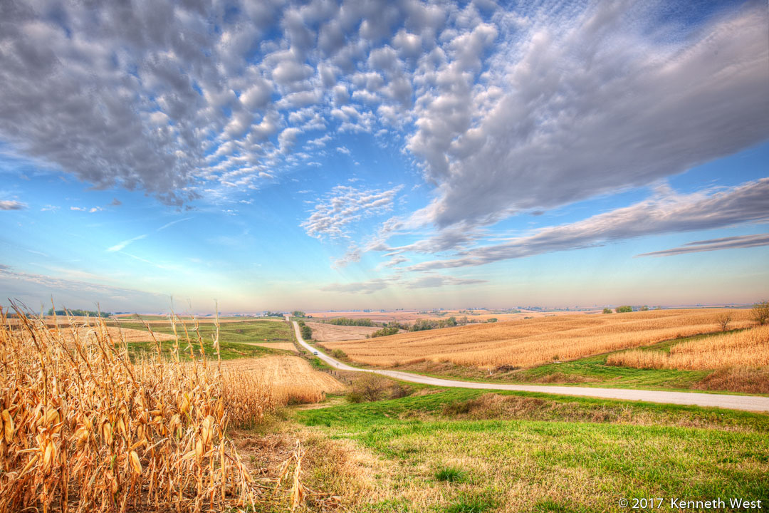 Harvest Time - WSKW-103-S - Between Harlan and Guthrie Center, Western Skies Scenic Byway - Standard 2 x 3 Proportion