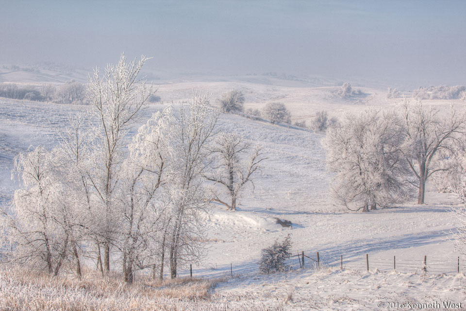 Fields in Winter - WSKW-120-S - Between Harlan and Guthrie Center, Western Skies Scenic Byway - Standard 2 x 3 Proportion