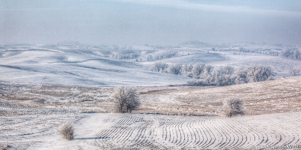 Fields at Rest - WSKW-122-W - Between Harlan and Guthrie Center, Western Skies Scenic Byway - Wide 1 x 2 Proportion