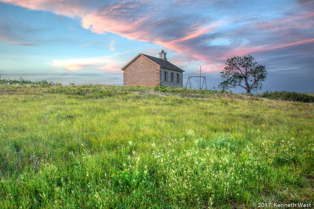Lower Fox Creek School House - FH-004-S - Built in 1884, National Tallgrass Prairie Preserve, Flint Hills Kansas - Standard Proportion 2 x 3