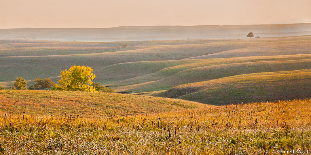 Evening in the Flint Hills - FH-014b-W - National Tallgrass Prairie Preserve, Flint Hills Kansas, Wide Proportion 1 x 2
