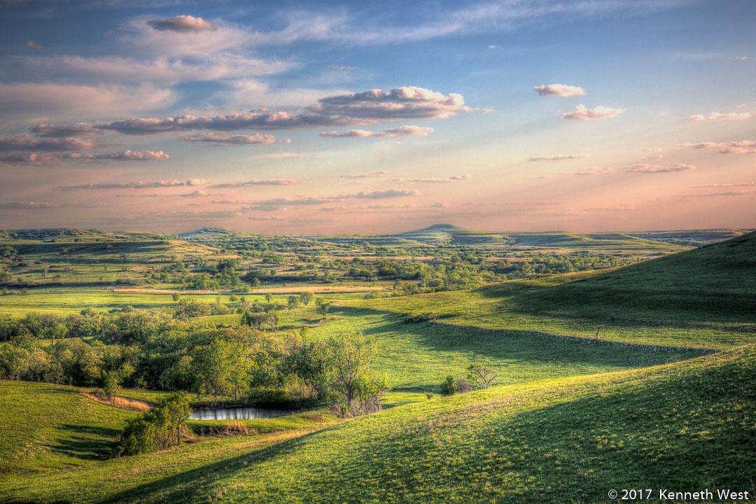 Konza Prairie Spring - FH-030-S - Konza Prairie, Flint Hills, Kansas - Standard 2 x 3 Proportion